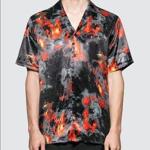 Stampd | NWT Pyre Shirt Flame Button Shirt Sz 2XL